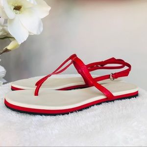 Authentic Gucci red thong sandals